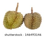 Durian isolated on white background  - stock photo