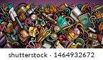 cartoon cute colorful hand... | Shutterstock . vector #1464932672
