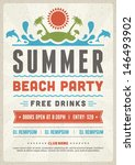 retro summer party design... | Shutterstock .eps vector #146493902