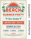 retro summer party design... | Shutterstock .eps vector #146493932