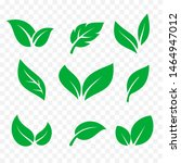 leaves icons isolated vector... | Shutterstock .eps vector #1464947012