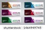 set of modern banners... | Shutterstock .eps vector #1464949745