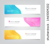 vector abstract banner design... | Shutterstock .eps vector #1465009202
