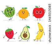 cartoon funny fruit characters  ...   Shutterstock .eps vector #1465015085