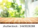 empty wood table top on blur... | Shutterstock . vector #1465028288