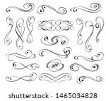 vector drawing with decorative... | Shutterstock .eps vector #1465034828