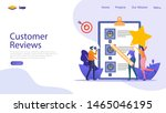 customer reviews vector concept ...