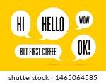 speech bubble. set of white... | Shutterstock .eps vector #1465064585