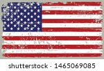 usa flag in grunge style.old... | Shutterstock .eps vector #1465069085