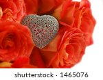 heart shaped broach and red... | Shutterstock . vector #1465076
