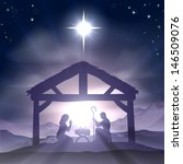 christmas christian nativity... | Shutterstock . vector #146509076