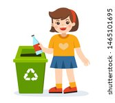 responsibility of young little... | Shutterstock .eps vector #1465101695