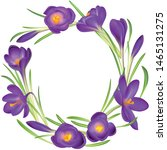 crocuses wreath. crocus.... | Shutterstock .eps vector #1465131275