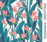 bird of paradise tropical... | Shutterstock .eps vector #1465177322