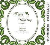 template design happy wedding ... | Shutterstock .eps vector #1465183778
