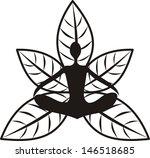 yoga vector illustration   Shutterstock .eps vector #146518685