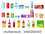 snack products. biscuit water... | Shutterstock .eps vector #1465202435