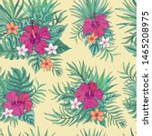 tropic seamless pattern with...   Shutterstock .eps vector #1465208975