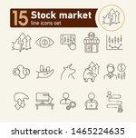 stock market line icon set.... | Shutterstock .eps vector #1465224635