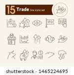 trade line icon set. growth ... | Shutterstock .eps vector #1465224695