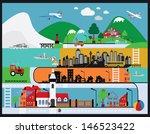 vector black city icons set | Shutterstock .eps vector #146523422