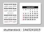 calendar 2020. vector design... | Shutterstock .eps vector #1465241015