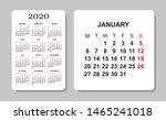 calendar 2020. vector design... | Shutterstock .eps vector #1465241018