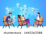 people using cellphone for... | Shutterstock .eps vector #1465262588