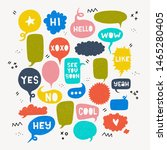 set of colorful speech bubbles... | Shutterstock .eps vector #1465280405