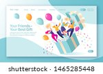 concept of landing page on... | Shutterstock .eps vector #1465285448