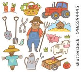 farmer and farming equipment... | Shutterstock .eps vector #1465294445