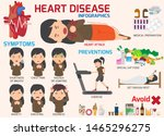 infographics. symptoms of heart ... | Shutterstock .eps vector #1465296275