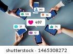 social networking service... | Shutterstock . vector #1465308272