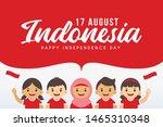 17 august   indonesia... | Shutterstock .eps vector #1465310348