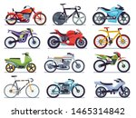 Motorbike Set. Motorcycles And...