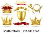 realistic heraldic symbols.... | Shutterstock .eps vector #1465315265