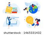 flat design concepts of... | Shutterstock .eps vector #1465331432
