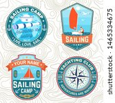 set of summer sailing camp... | Shutterstock .eps vector #1465334675