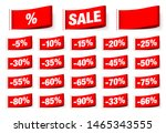 set of red textile labels sale... | Shutterstock .eps vector #1465343555
