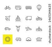set of public transport related ... | Shutterstock .eps vector #1465344635