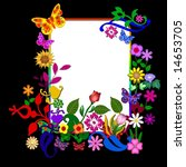colorful frame on black... | Shutterstock . vector #14653705