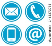 contact icons in vector format | Shutterstock .eps vector #1465373795