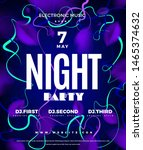 night club party blue abstract... | Shutterstock .eps vector #1465374632