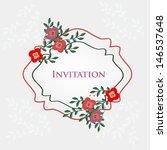 wedding invitation card | Shutterstock .eps vector #146537648