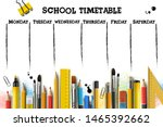 school timetable template for... | Shutterstock .eps vector #1465392662