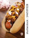 Homemade Hot Chili Dog With...