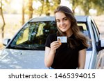 attractive young woman wearing... | Shutterstock . vector #1465394015
