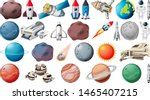set of planets and space...   Shutterstock .eps vector #1465407215