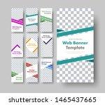 dig set of white vertical web... | Shutterstock .eps vector #1465437665