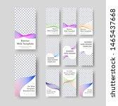 set of vertical vector white... | Shutterstock .eps vector #1465437668
